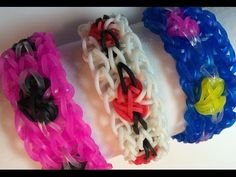 Rainbow Loom VALENTINE HEART Bracelet. Designed by Kate Nave with a tutorial by Made by Mommy. Click photo for YouTube video.