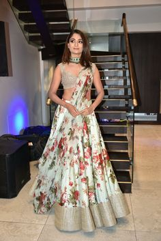Floral Lehenga Inspirations for Every Bride-to-Be! Indian Lehenga, Indian Gowns, Indian Attire, Indian Party Wear, Indian Wedding Outfits, Indian Outfits, Indian Wear, Floral Lehenga, Lehenga Choli