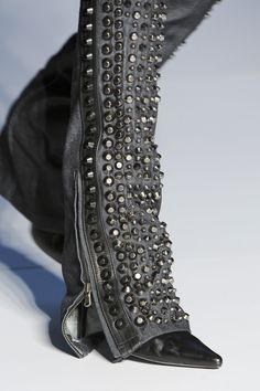 Diesel Studded Jeans - now these would look badass on a bike!