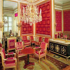 Château de Fontainebleau - Appartement intérieur : le salon de l ...