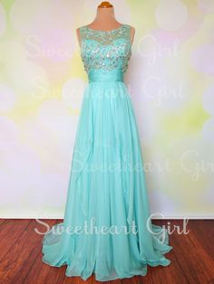 Sweetheart Girl | Charming Rhinestone sequined Chiffon Long Prom Dresses,Graduation Dress | Online Store Powered by Storenvy