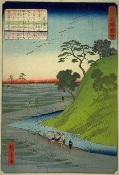 江戸名勝図絵 道灌山 Prominent View of Yedo series, Dokan Hills