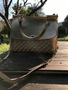 Miss Sicily vera pelle e crochet con cordino lurex Per info kgkboutique@gmail.com