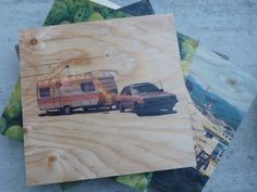 12x12 wood prints for sale at summer markets @leslievilleflea from resurfaced!