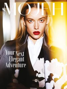 Hannah Ferguson wears Outerwear on Mojeh Magazine December 2015 cover shoot