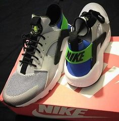 2d2ce2e4c86 Nike air huarache run ultra ryl blue blk scrm grn pr pltnm size 10 retro