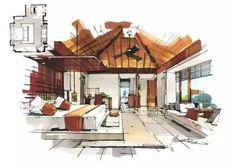 Home Decorators Collection Blinds Referral: 7724275189 Interior Design Renderings, Interior Rendering, Interior Sketch, Interior Architecture, Sims, Bali Decor, Perspective, Interior Design Presentation, Decorating With Pictures