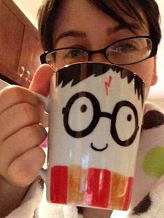 Nerd Craft Librarian: sharpie mugs - could also do o mason jars