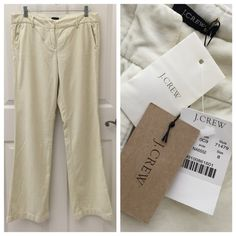 NEW J. Crew Lush Velveteen Pants City Fit Cream J. Crew Lush Velveteen Pants, City Fit, Size 8, New with tags. J. Crew Pants