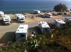 Malibu beach rv park.  road to cross to get to the beach and not a lot of shade but great location and views