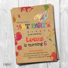 Art Birthday party invitation for all age  Hello, welcome to Lab.mstudio!   *This is printable file and no physical items will be mailed to you. ***