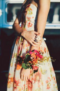 Flower wristlet | Lara Hotz Photography for Hitched Magazine | http://burnettsboards.com/2013/11/birds-paradise-indie-wedding-inspiration/