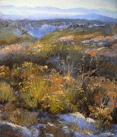 Truchas Vista November by Margi Lucena Pastel ~ 14 x 11