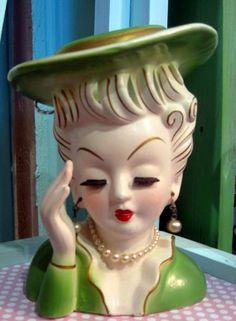 1950's Tilso Lady Head Vase