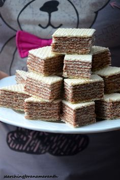 Wafle z masą mleczno-kakaową Russian Cakes, Polish Recipes, Polish Food, Sandwich Cake, Baking Cupcakes, Pumpkin Cheesecake, Dessert Recipes, Desserts, Cake Cookies