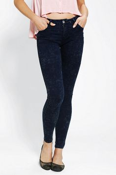 #UrbanOutfitters          #Women #Bottoms           #allover #mid-rise #stretchy #glamorous #content #5-pocket #acid #spandex #legging #fly #hip #fitted #wash #skinny #jean #leg #cotton #zip #machine #care #size                       Glamorous Acid-Wash Legging Jean                    Seriously stretchy 5-pocket skinny jean that fits like a legging from Glamorous in an allover acid wash.? Sits at the hip with a fitted, tapered leg and a mid-rise.? Zip fly. ?   CONTENT   CARE  - 98% Cotton…