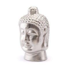 Matt Silver Buddha Head Matt Silver