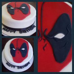 Deadpool Cake For Birthday And Superhero Fan Father S