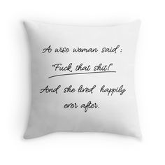 'Wise Woman' Kissen by UniCatDesign Vintage T-shirts, Wise Women, Lettering, Bed Pillows, Sayings, Pillows, Lyrics, Word Of Wisdom, Letters