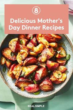 8 Delicious Mother's Day Dinner Recipes | Nailing Mother's Day dinner calls for something more special than everyday weeknight recipes; something festive that also celebrates spring. That's why we assembled a collection of colorful, fresh sides, plus options for delectable, hearty main meals. #mothersdayrecipes #realsimple #mothersdayideas #giftideas Brunch Recipes, Dinner Recipes, Mothers Day Dinner, Weeknight Recipes, Dinner Menu, Recipe Collection, Main Meals, Festive, Colorful