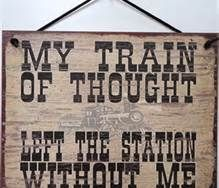 """.... what train of thought? Station? And who is this so-called """"Me"""" bitch anyway??? pfft"""