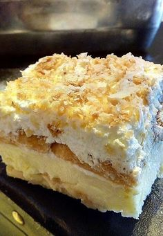 Greek Sweets, Greek Desserts, Party Desserts, Food Network Recipes, Food Processor Recipes, Greek Cake, Cake Decorating Icing, Sweet Bakery, Puff Pastry Recipes