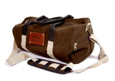 This cotton or waxed cotton canvas weekender or gym overnight duffel bag is the perfect Gift for sophisticated but casual men. This also makes $55.00