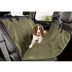 """Orvis Water-resistant hose-off seat hammock (polyester, 51"""" x 66"""", $69.00) #dog #seat_cover #orvis"""