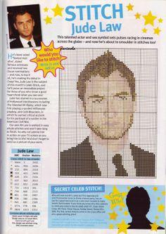 sandylandya@outlook.es Jude Law Cross Stitch Chart