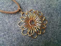 Mandala flower pendant - How to make wire jewelery 219 - YouTube