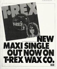 Rex Telegram Sam ad by Pearce . Marc Bolan, Advertising, Ads, Glam Rock, Hard Rock, Album, Songs, Music, History