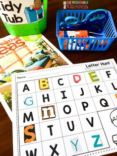 During the first few months of Kindergarten we eat, breathe, and I'm pretty sure dream about letters! If you're a Kindergarten teacher, you. Alphabet Activities, Literacy Activities, Alphabet Books, Teaching Resources, Alphabet Crafts, Alphabet Letters, Teaching Letters, Preschool Letters, Kindergarten Centers