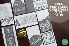 Fancy Typography Gift Tags - I wish I had seen these a week ago.