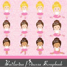 bailarina princesa scrapbook digital elementos png imagens papeis digitais sergio roberto arts