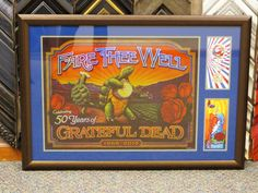 Remember your concert experience by framing the poster along with your tickets. #gratefuldead #concertposter