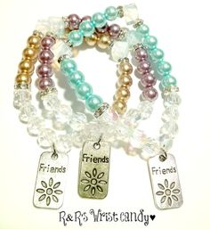 Friendship Beaded Bracelets by RandRsWristCandy on Etsy, $5.00