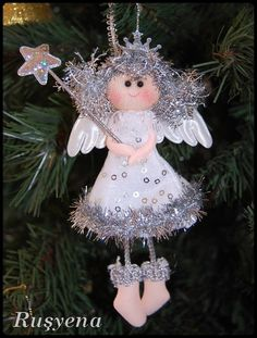 angel ornament, some great details for a felt angel