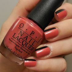 Hot Lava Nails using OPI's 'Go With The Lava Flow' and 'Who Are You Calling Bossy?!?'  #opinails #opihawaii #opisverige #lavanailart #nailart #opigowiththelavaflow