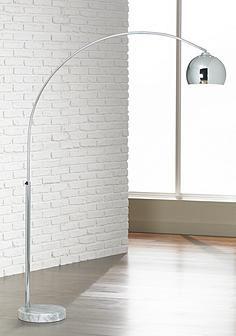 george kovacs polished chrome arc floor lamp