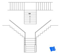 Split staircase. Click through to the website to read about staircase design considerations and lots more on home design. Floating Staircase, Modern Staircase, Staircase Design, A Frame House Plans, New House Plans, Types Of Stairs, Traditional Staircase, Staircase Remodel, Stairs Architecture