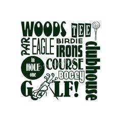 Golf Sports Subway Vinyl Wall Kids Bedroom Nursery Decal Sticker. $9.99, via Etsy.