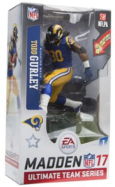 McFarlane NFL Madden 17 Series 1 Los Angeles Rams Todd Gurley Blue Jersey   sports   587542666