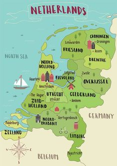 Your perfect Netherlands itinerary by a Dutch resident Map of the Netherlands. Read your perfect Netherlands itinerary written by a Dutch resident covering 13 cities! Tour En Amsterdam, Amsterdam Travel, Amsterdam Day Trips, Amsterdam Food, Hotel Amsterdam, Amsterdam Things To Do In, Holland Netherlands, Travel Netherlands, Holland Map