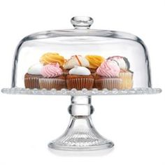 For spectacular dessert presentation, our Hobnail Footed cake Plate is generously sized to accommodate larger cakes, tortes and pies. a fitted dome preserves freshness, and has a functional knob for easy lifting and serving! now at $49.99
