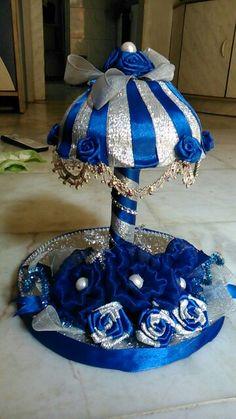 Tray Diy Diwali Decorations, Indian Wedding Decorations, Umbrella Decorations, Engagement Decorations, Diy Craft Projects, Diy And Crafts, Art N Craft, Craft Work, Indian Wedding Gifts