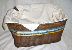 Blue and Yellow Ribbon Basket