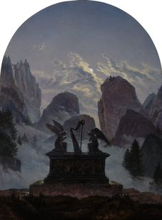 Color Magic #Blue | Monument to Goethe (1832): Carl Gustav Carus 1789 – 1869