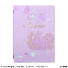 Modern Purple Easter Bunny iPad Pro Cover