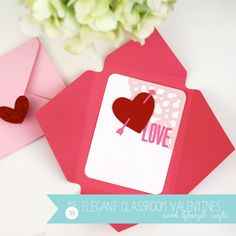 Pretty Classroom Valentine's from the pages of Toile Valentine's Day Project Guide | Damask Love Blog featuring @Lifestyle Crafts