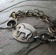 Artisan Horse Jewelry PMC Dance Handmade Fine by SilverWishes, $105.00